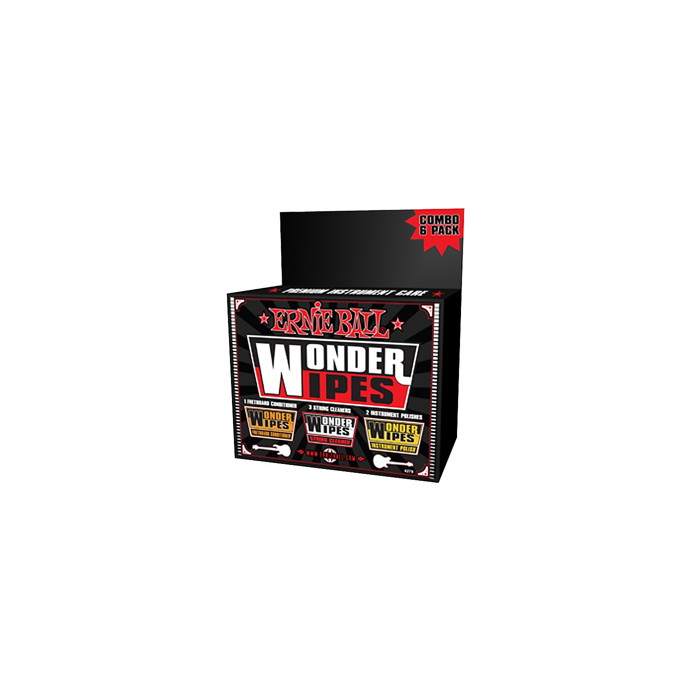 Ernie Ball Wonder Wipe Variety 6-pack thumbnail