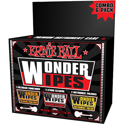 Ernie Ball Wonder Wipe Variety 6-pack thumbnail
