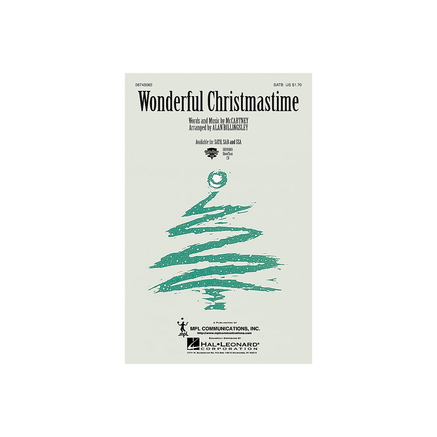 Hal Leonard Wonderful Christmastime SAB by Paul McCartney Arranged by Alan Billingsley thumbnail