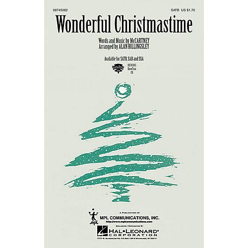 Hal Leonard Wonderful Christmastime SSA by Paul McCartney Arranged by Alan Billingsley thumbnail