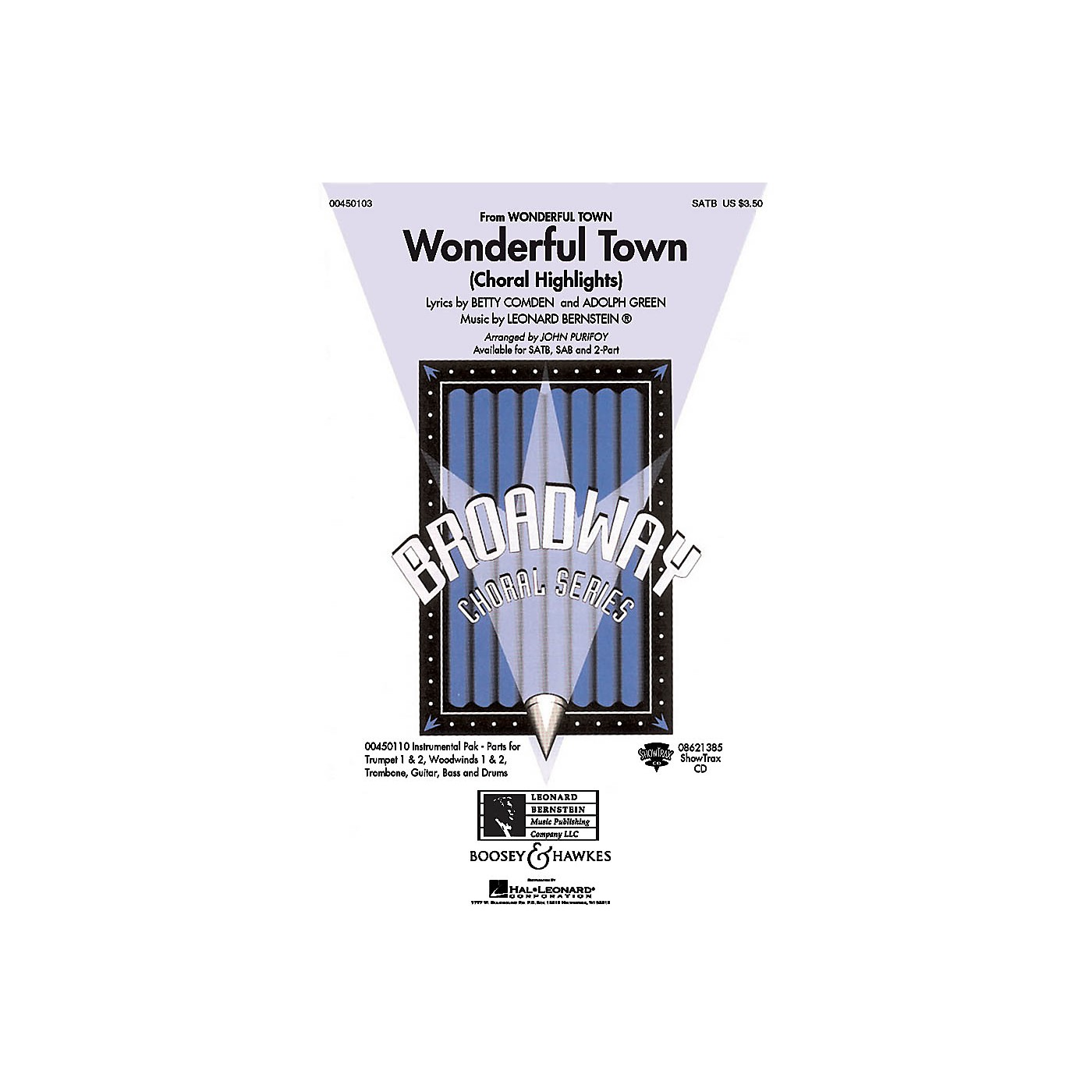 Hal Leonard Wonderful Town (Choral Highlights) ShowTrax CD Arranged by John Purifoy thumbnail