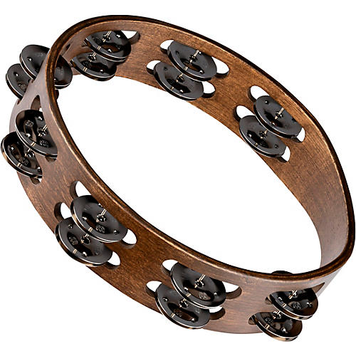 Meinl Wood Tambourine with Double Row Stainless Steel Jingles thumbnail