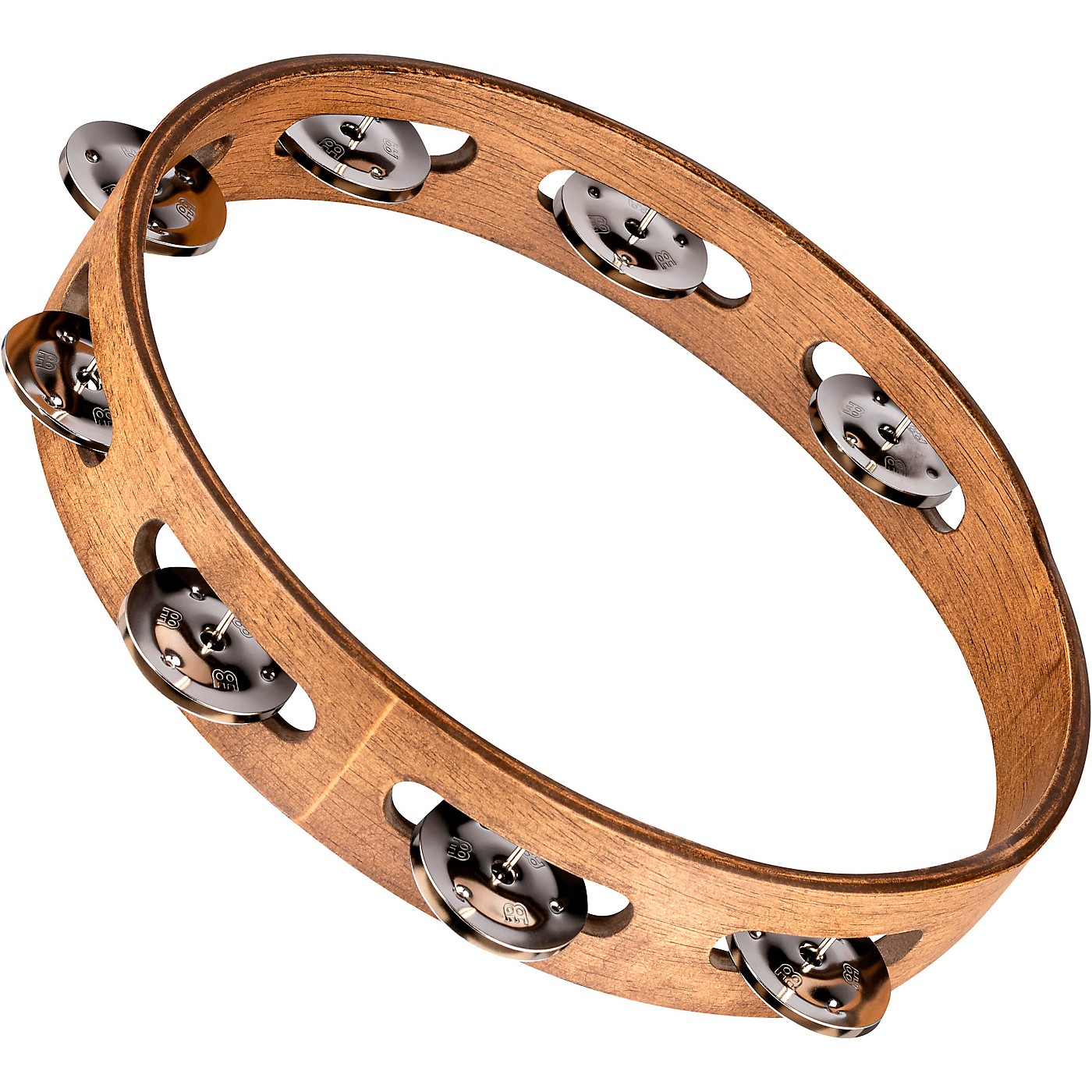 Meinl Wood Tambourine with Single Row Stainless Steel Jingles thumbnail