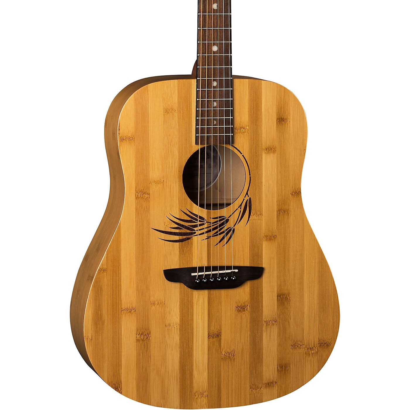 Luna Guitars Woodland Bamboo Dreadnought Acoustic Guitar thumbnail