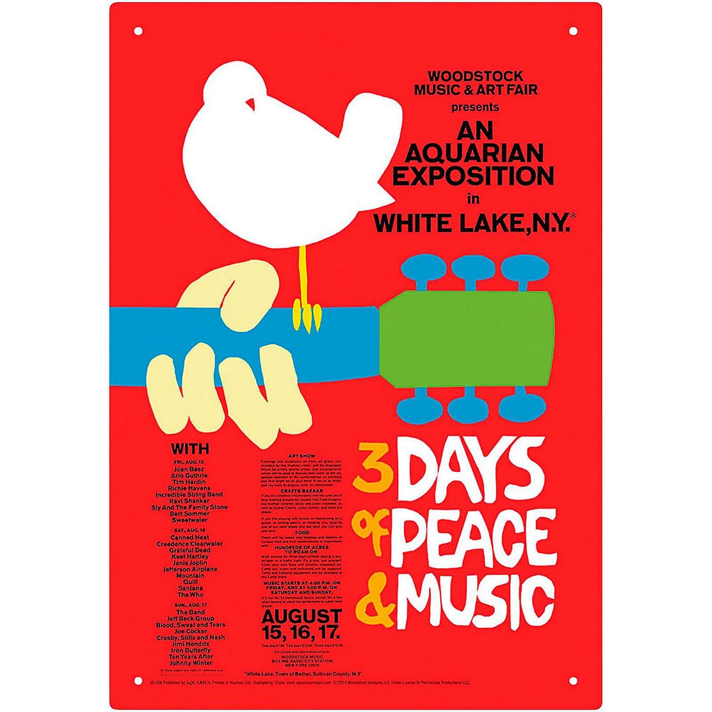 Hal Leonard Woodstock Red Tin Sign thumbnail