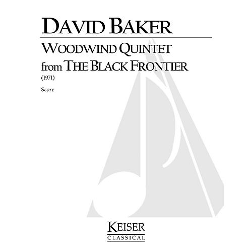 Lauren Keiser Music Publishing Woodwind Quintet (From The Black Frontier) LKM Music Series by David Baker thumbnail
