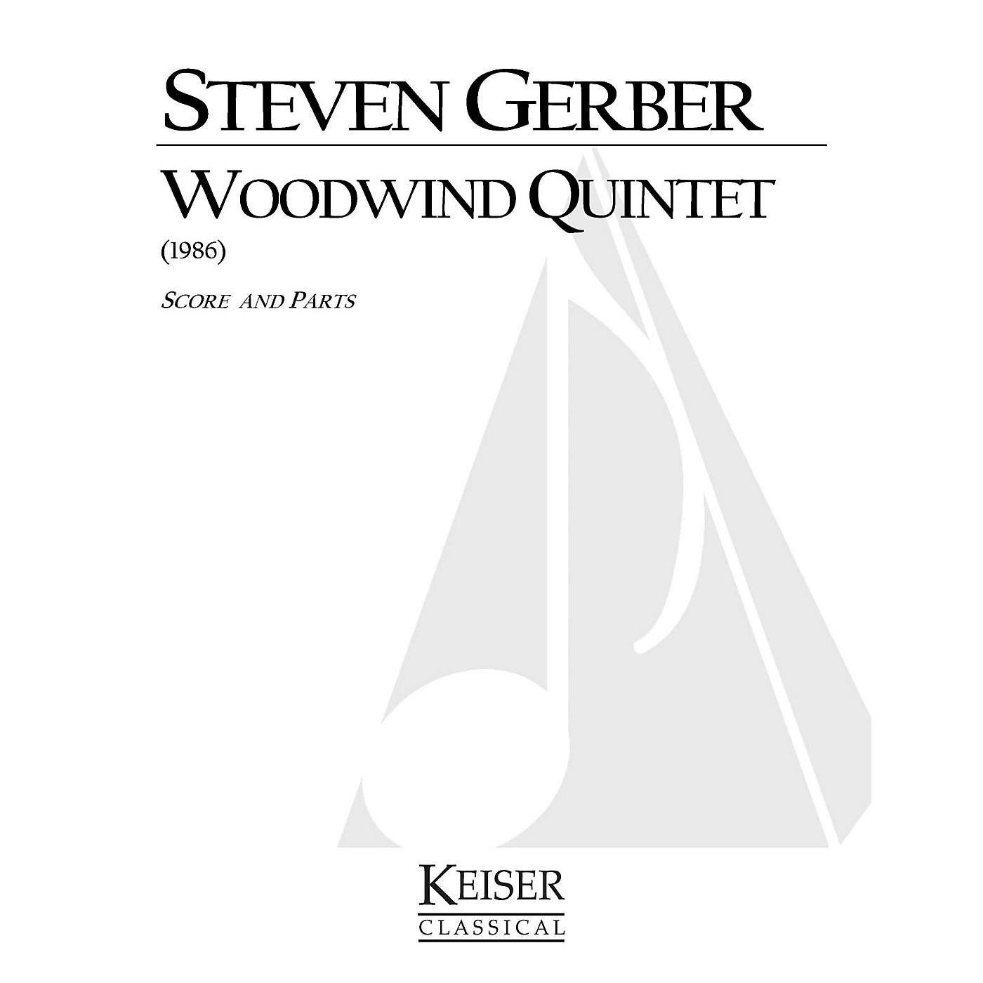 Lauren Keiser Music Publishing Woodwind Quintet LKM Music Series by Steven Gerber thumbnail