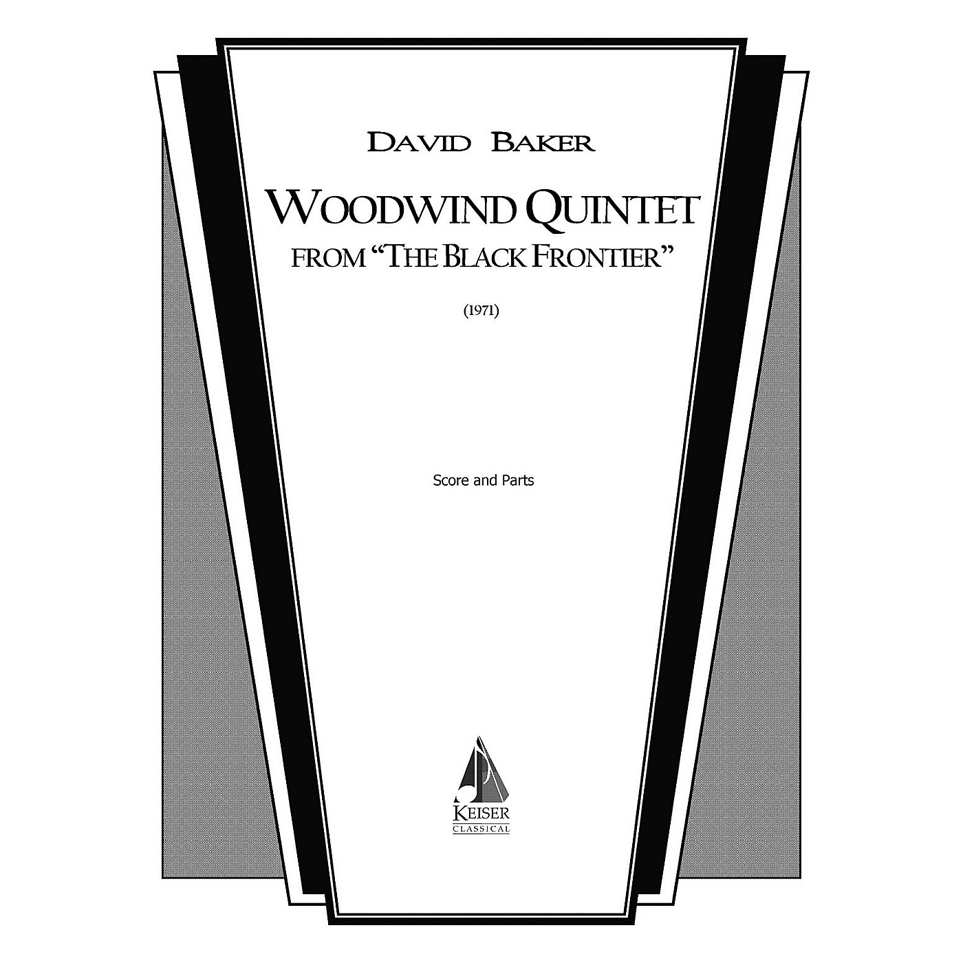 Lauren Keiser Music Publishing Woodwind Quintet (from The Black Frontier ) LKM Music Series by David Baker thumbnail