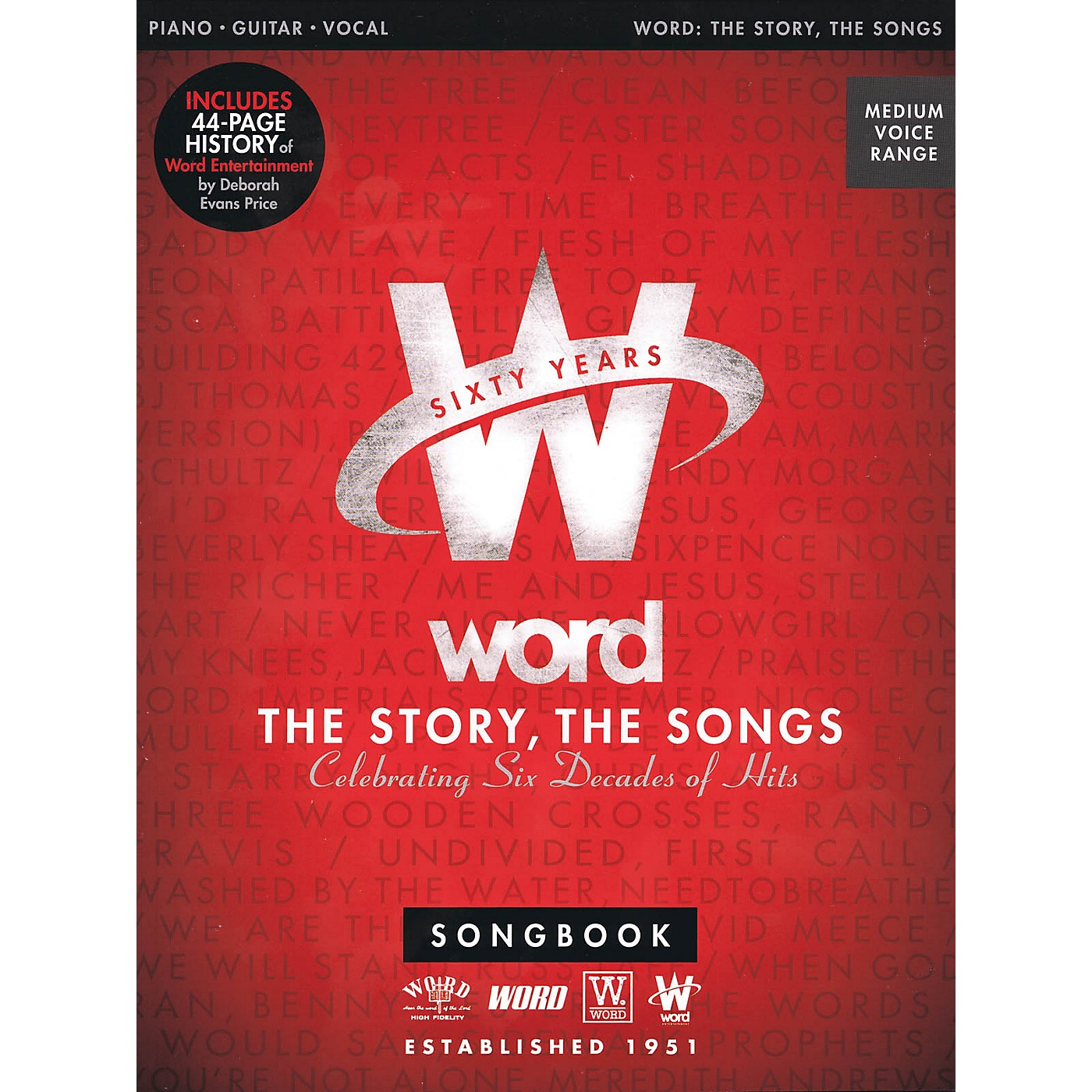 Word Music Word - The Story, The Songs (Celebrating Six Decades of Hits) Sacred Folio Series Softcover by Various thumbnail
