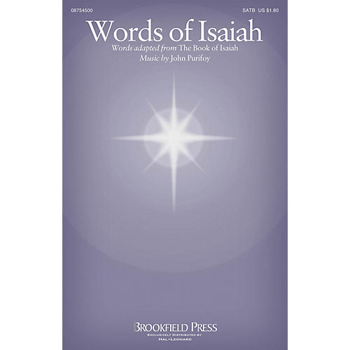 Brookfield Words of Isaiah SATB composed by John Purifoy thumbnail