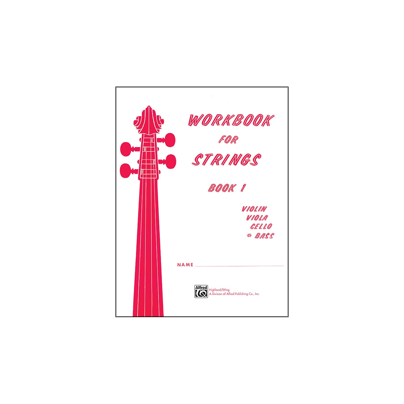 Alfred Workbook for Strings Book 1 Bass thumbnail