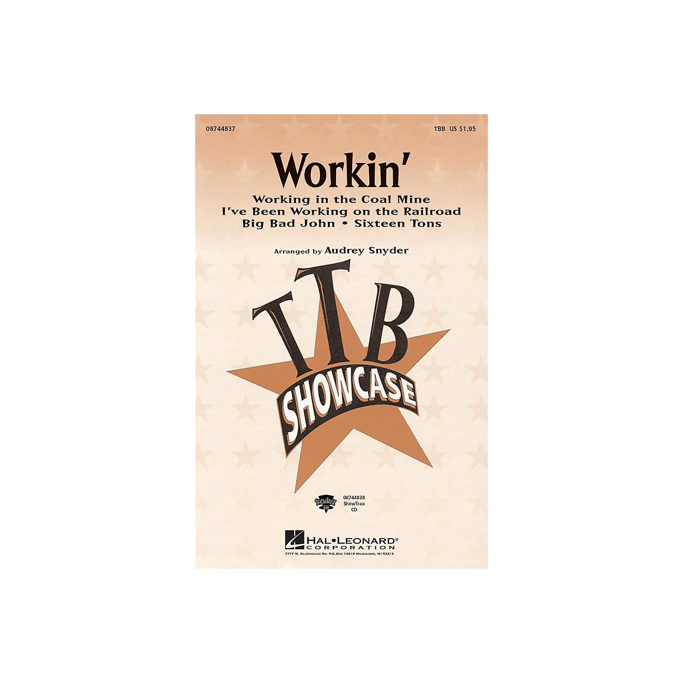 Hal Leonard Workin' (Medley) TBB arranged by Audrey Snyder thumbnail