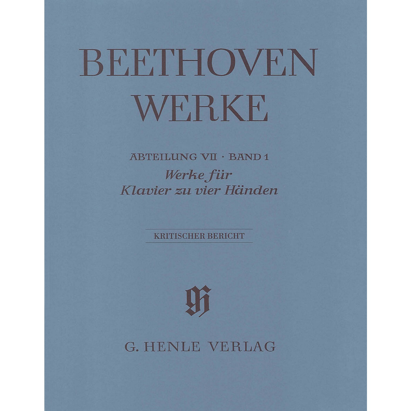 G. Henle Verlag Works for Piano Four-Hands Henle Edition  by Beethoven Edited by Hans Schmidt thumbnail