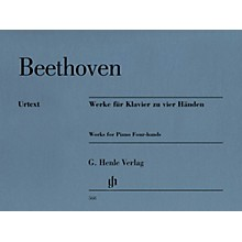 G. Henle Verlag Works for Piano Four-Hands Henle Music Softcover by Ludwig van Beethoven Edited by Hans Schmidt
