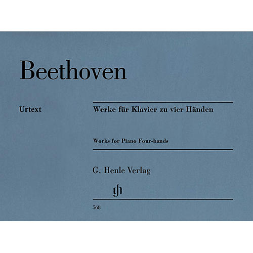 G. Henle Verlag Works for Piano Four-Hands Henle Music Softcover by Ludwig van Beethoven Edited by Hans Schmidt thumbnail