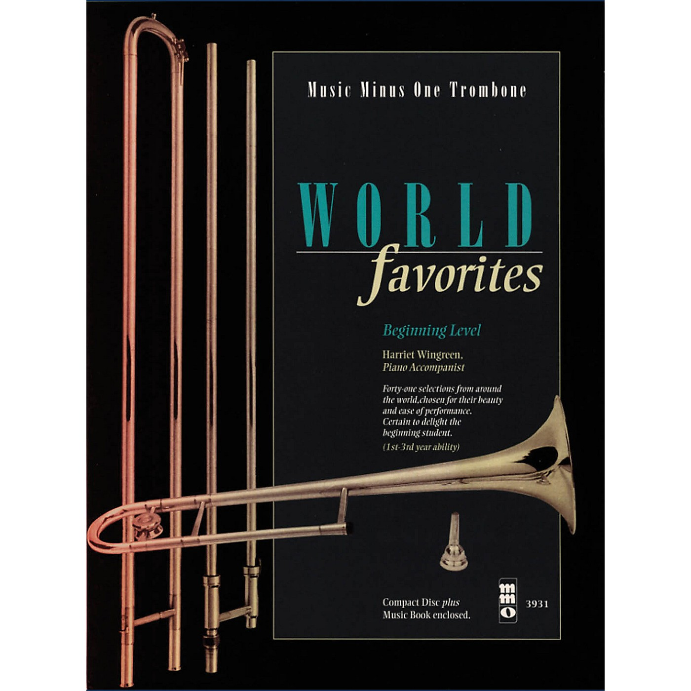 Music Minus One World Favorites - Beginning Level (Music Minus One Trombone) Music Minus One Series Softcover with CD thumbnail