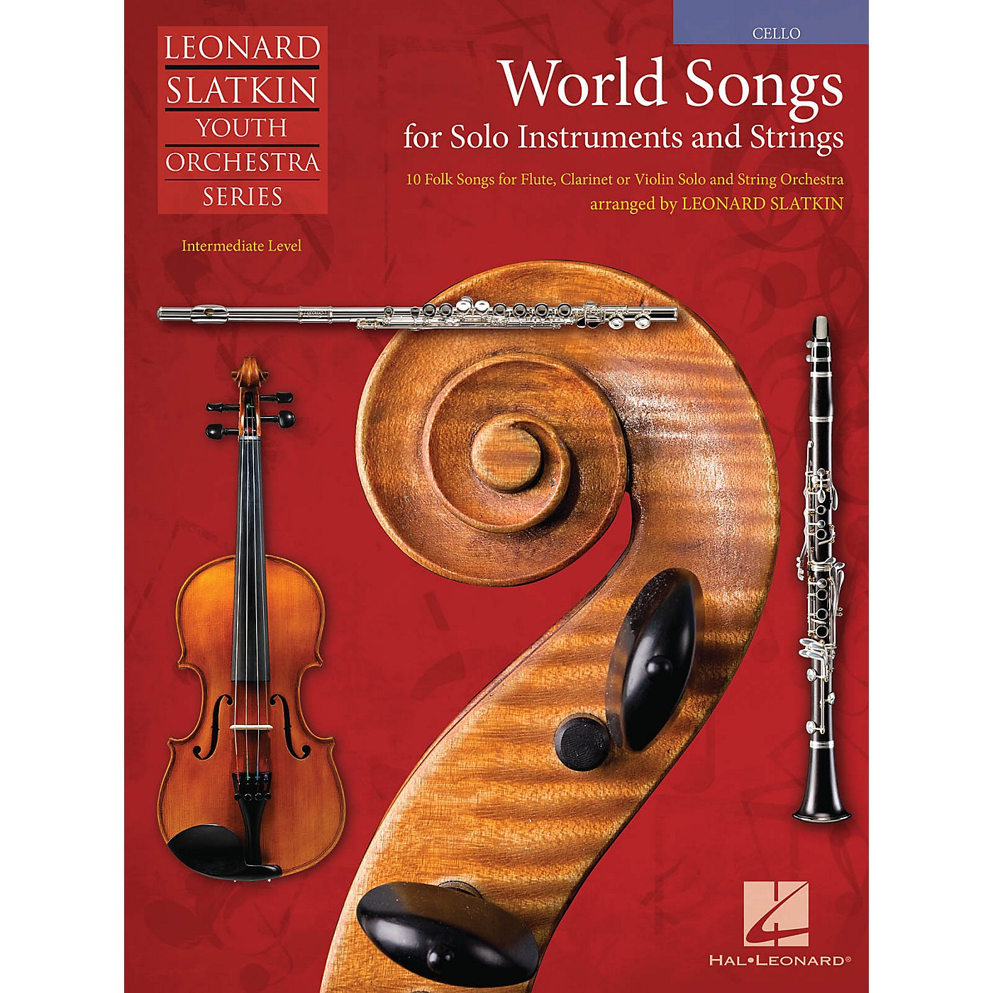 Hal Leonard World Songs for Solo Instruments and Strings Easy Music For Strings Series Softcover by Leonard Slatkin thumbnail