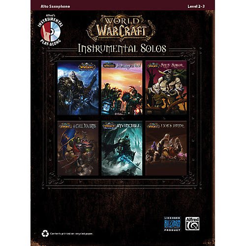 Alfred World of Warcraft Instrumental Solos Alto Sax Book & CD thumbnail