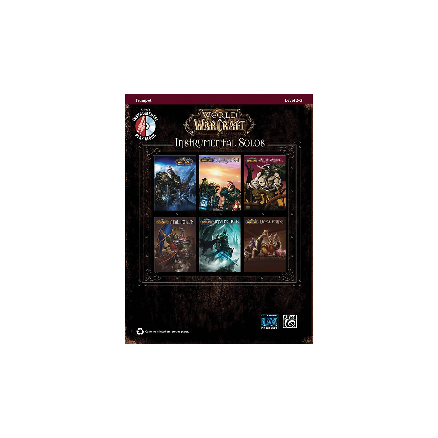 Alfred World of Warcraft Instrumental Solos Trumpet Book & CD thumbnail