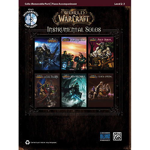 Alfred World of Warcraft Instrumental Solos for Strings Cello Book & CD thumbnail