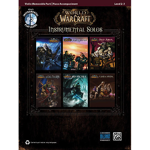 Alfred World of Warcraft Instrumental Solos for Strings Violin Book & CD-thumbnail