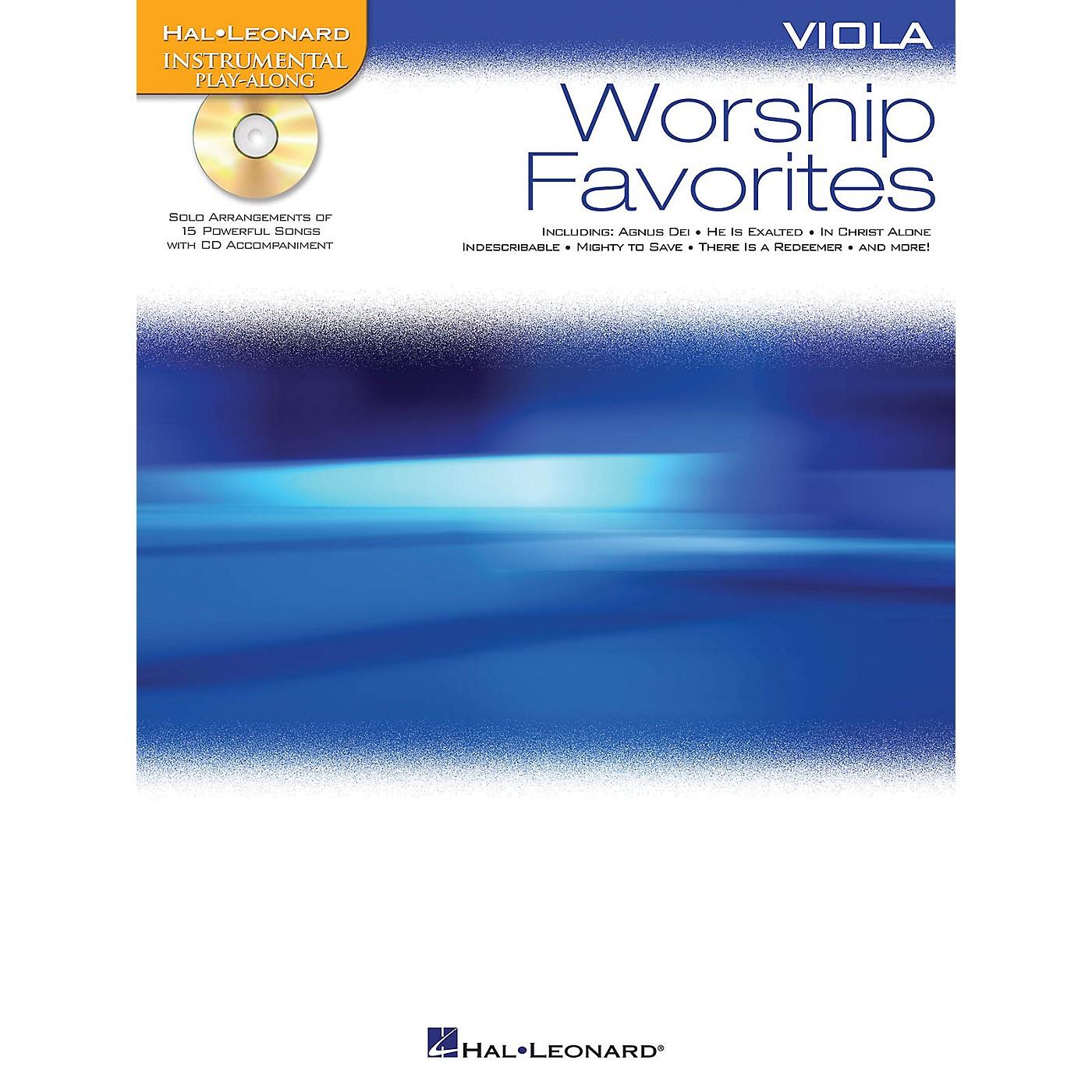 Hal Leonard Worship Favorites (Instrumental Play-Along for Viola) Instrumental Play-Along Series Softcover with CD thumbnail
