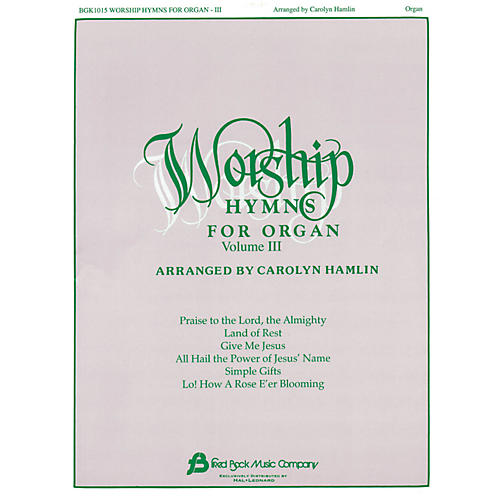 Hal Leonard Worship Hymns For Organ - Volume 3 thumbnail