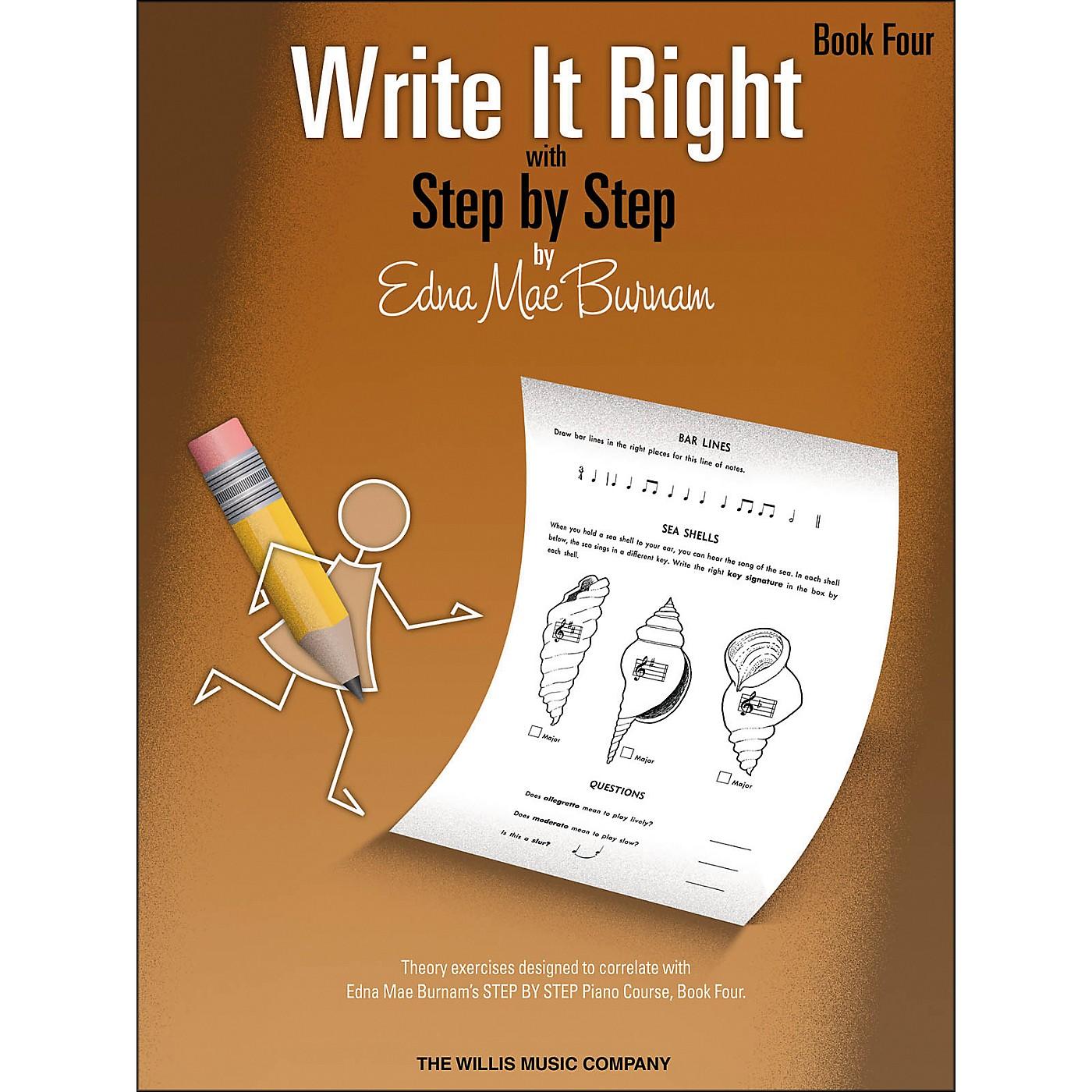 Willis Music Write It Right Book 4 thumbnail