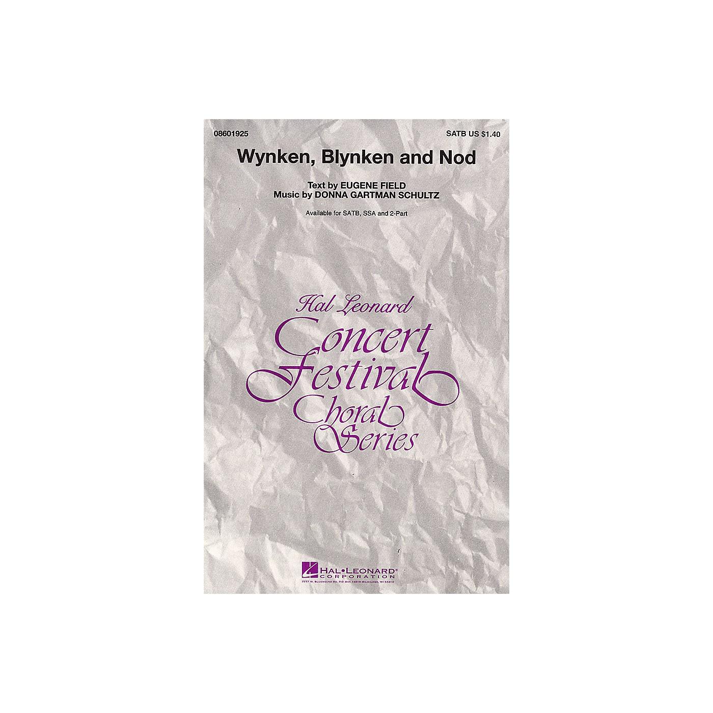 Hal Leonard Wynken, Blynken, and Nod SSA Composed by Donna Gartman Schultz thumbnail