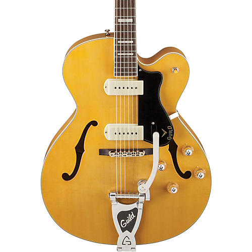 Guild X-175B Manhattan Hollowbody Archtop Electric Guitar with Guild Vibrato Tailpiece thumbnail