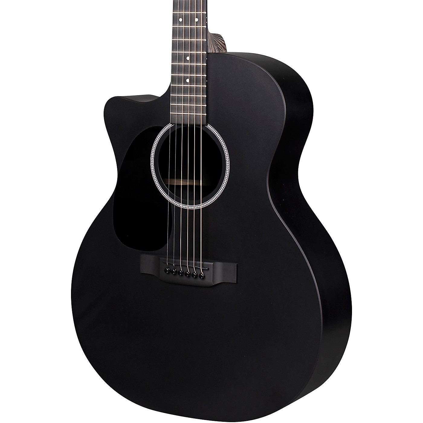 Martin X Series Style Special GPC Black HPL Left-Handed Acoustic-Electric Guitar thumbnail