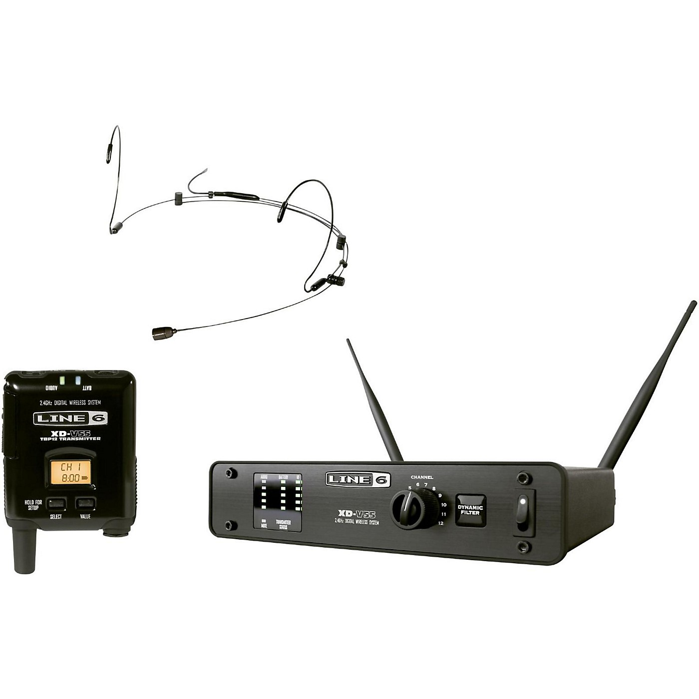 Line 6 XD-V55HS Digital Wireless Headset Microphone System thumbnail