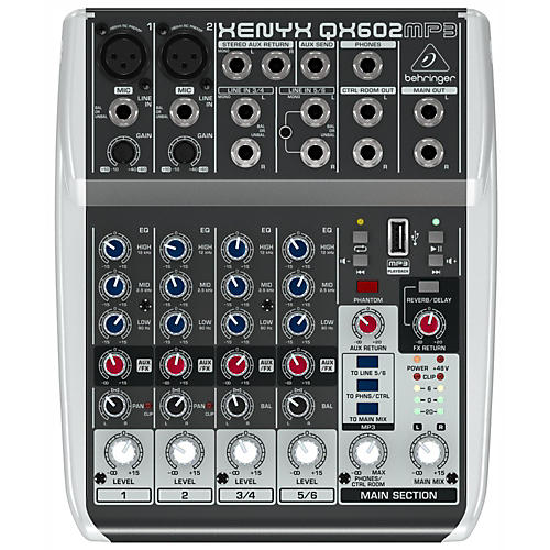 Behringer XENYX QX602MP3 6-Channel Mixer with MP3 Player thumbnail