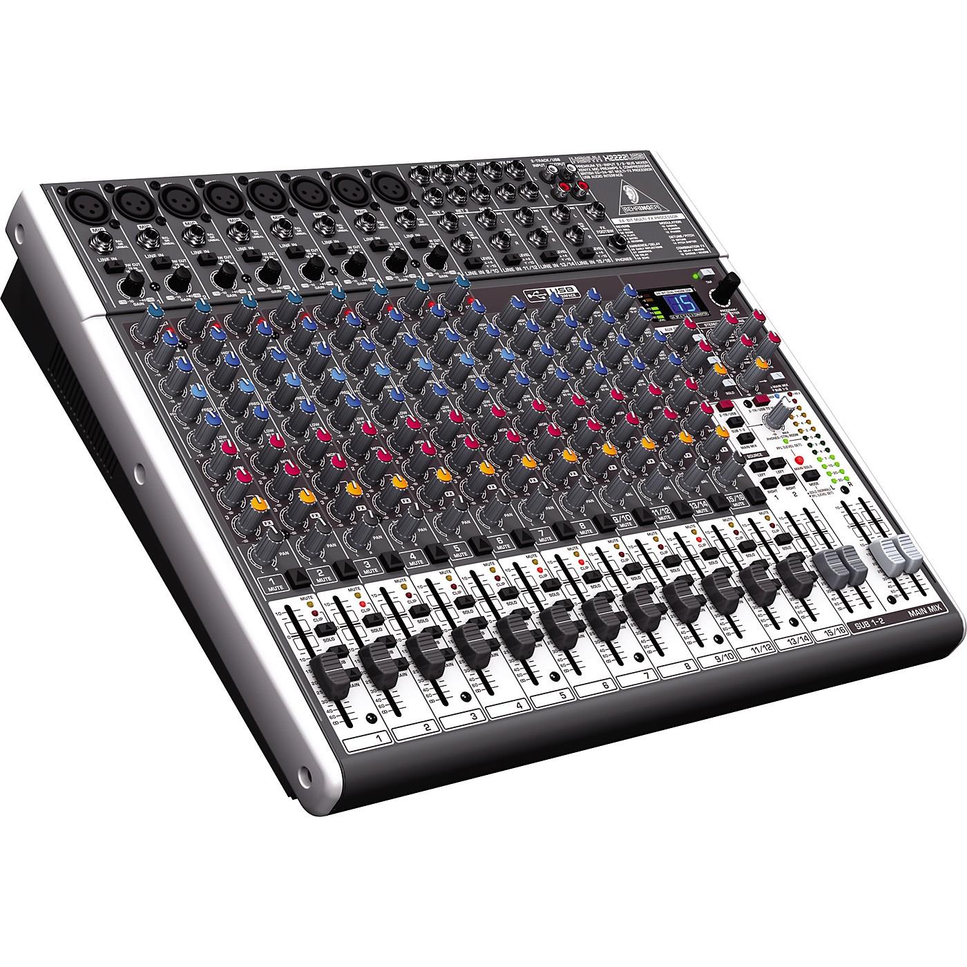Behringer XENYX X2222USB USB Mixer with Effects thumbnail