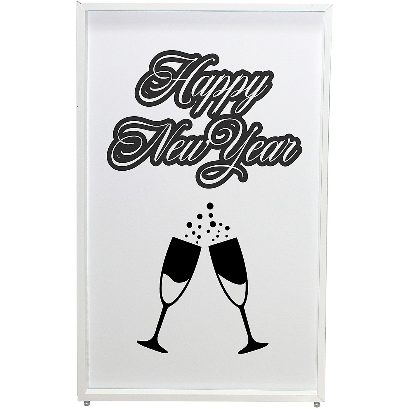 ProX XF-SNYTOAST New Year Toast Design Enhancement Scrim - Black Script on White | Set of Two thumbnail
