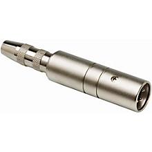 Hosa XLR Male LO-Z to 1/4in TS Female HI-Z Microphone Input Impedance Transformer