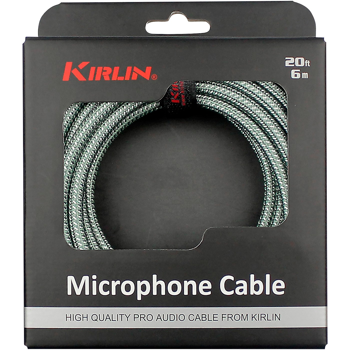 KIRLIN XLR Male To XLR Female Microphone Cable - Olive Green Woven Jacket thumbnail
