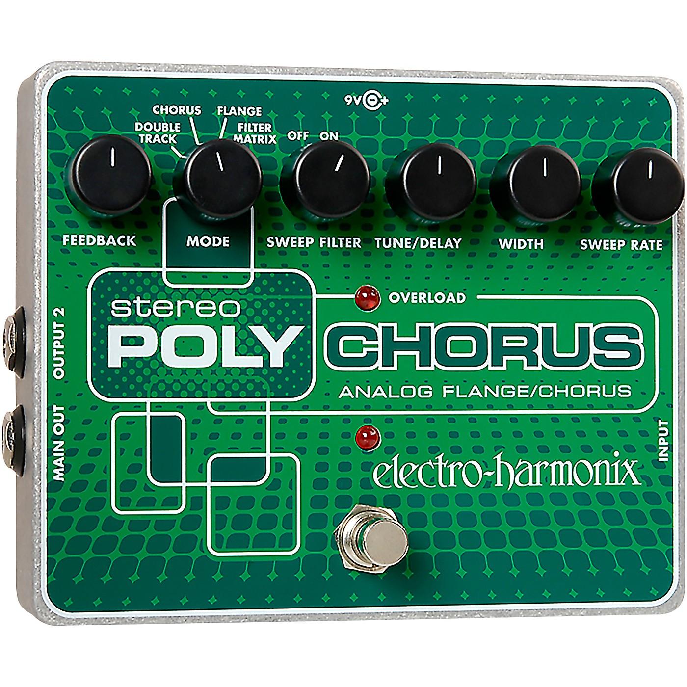 Electro-Harmonix XO Stereo Polychorus Analog Flanger and Chorus Guitar Effects Pedal thumbnail