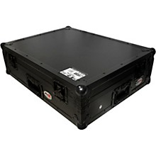ProX XS-DJ808WBL Black ATA Style Flight Road Case for Roland DJ-808 or Denon MC7000  w/ Wheels Black on Black