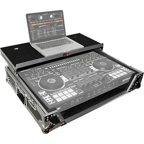 ProX XS-DJ808WLTBL Black ATA Style Flight Road Case with Wheels for Roland DJ-808 and Denon MC7000 thumbnail