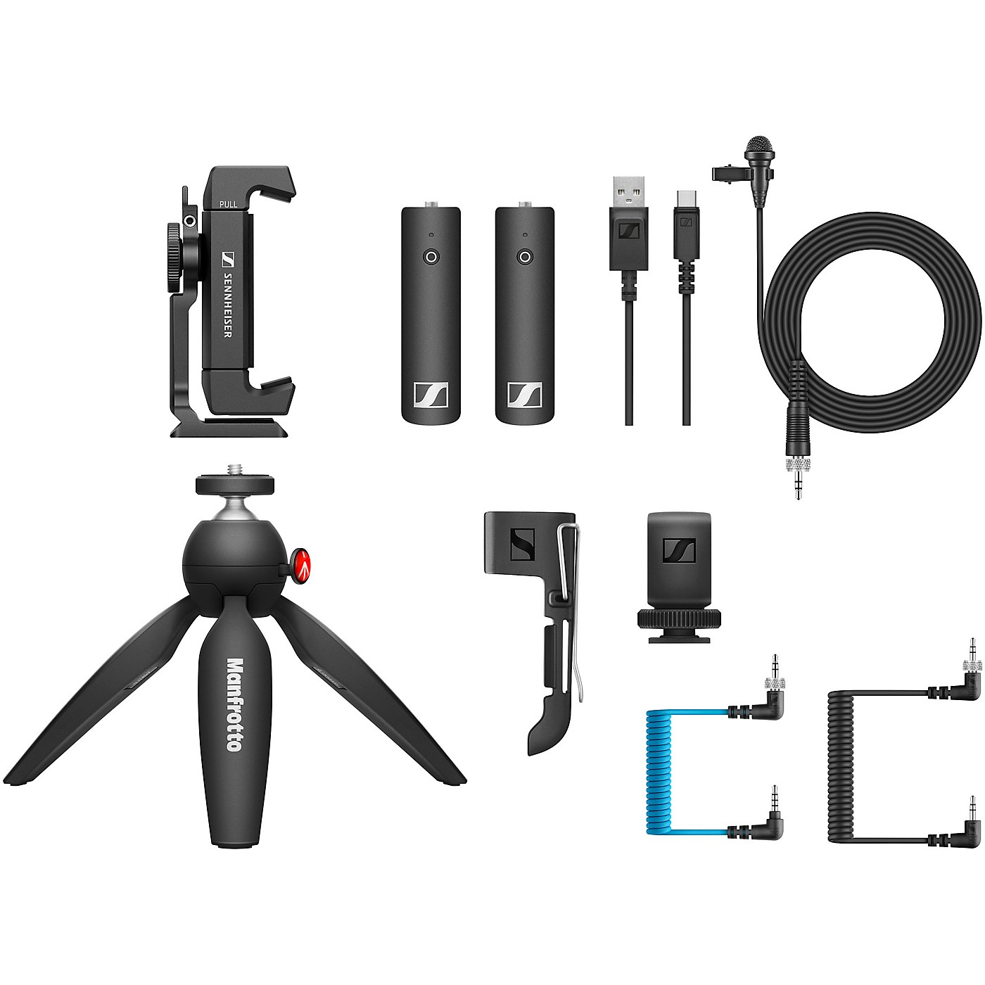 Sennheiser XSW-D PORTABLE LAV MOBILE KIT - Includes XSW-D Portable Lavalier Set, Manfrotto PIXI Mini Tripod and Sennheiser Smartphone Clamp thumbnail