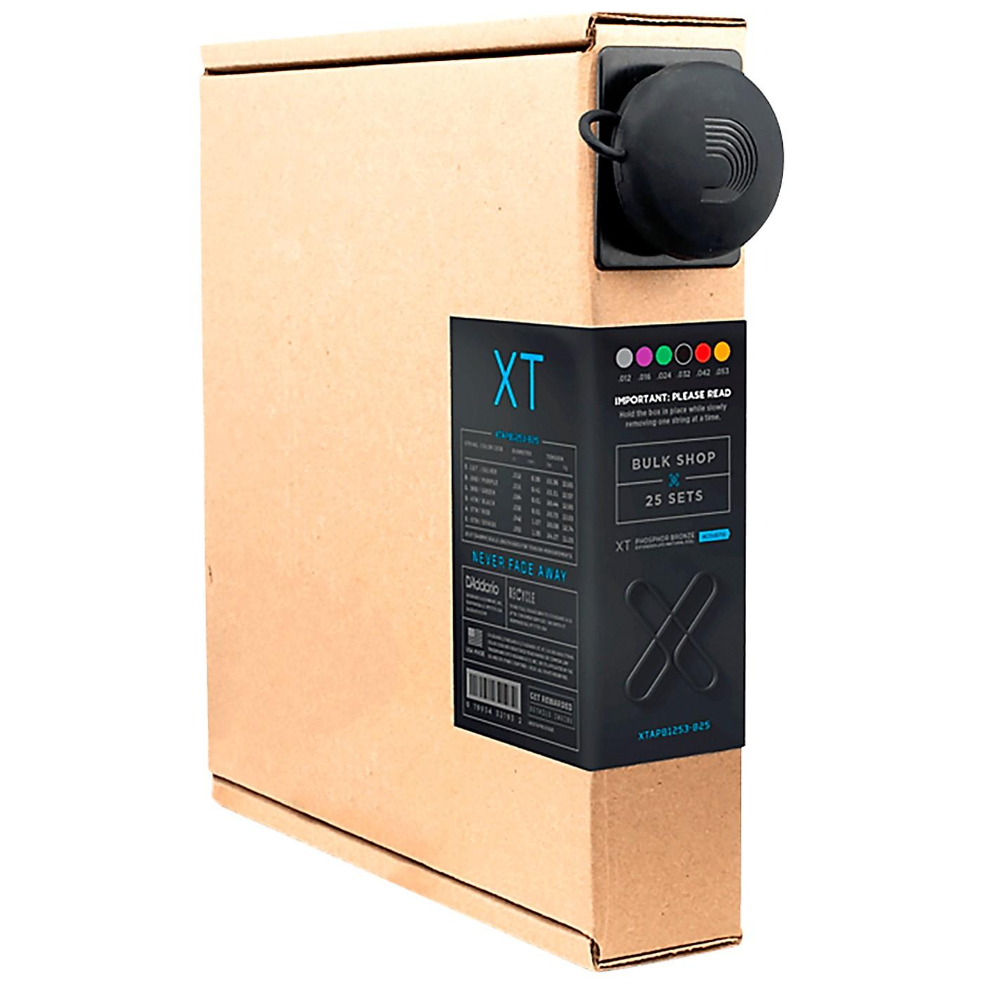 D'Addario XT Acoustic Phosphor Bronze, Light, 12-53, 25 Sets thumbnail