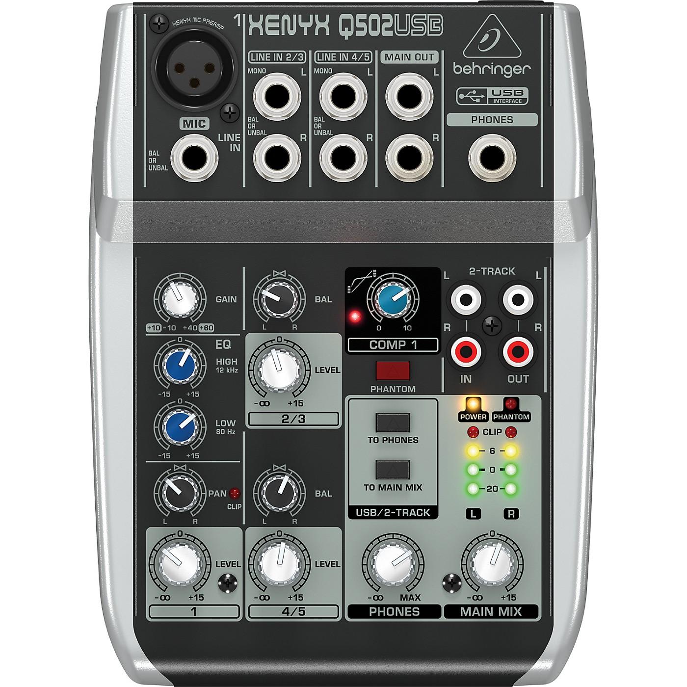 Behringer Xenyx Q502USB Mixer thumbnail