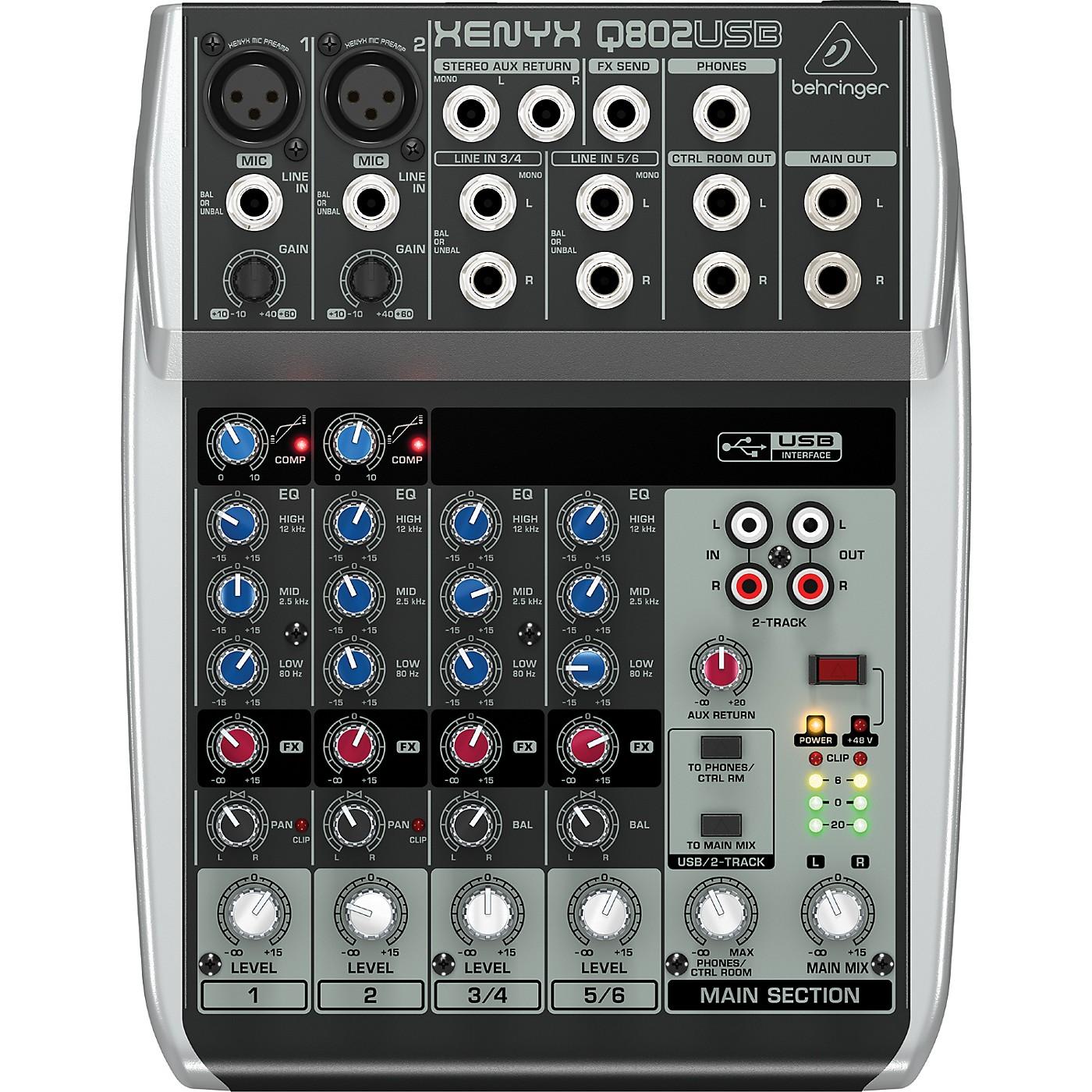 Behringer Xenyx Q802USB Mixer thumbnail