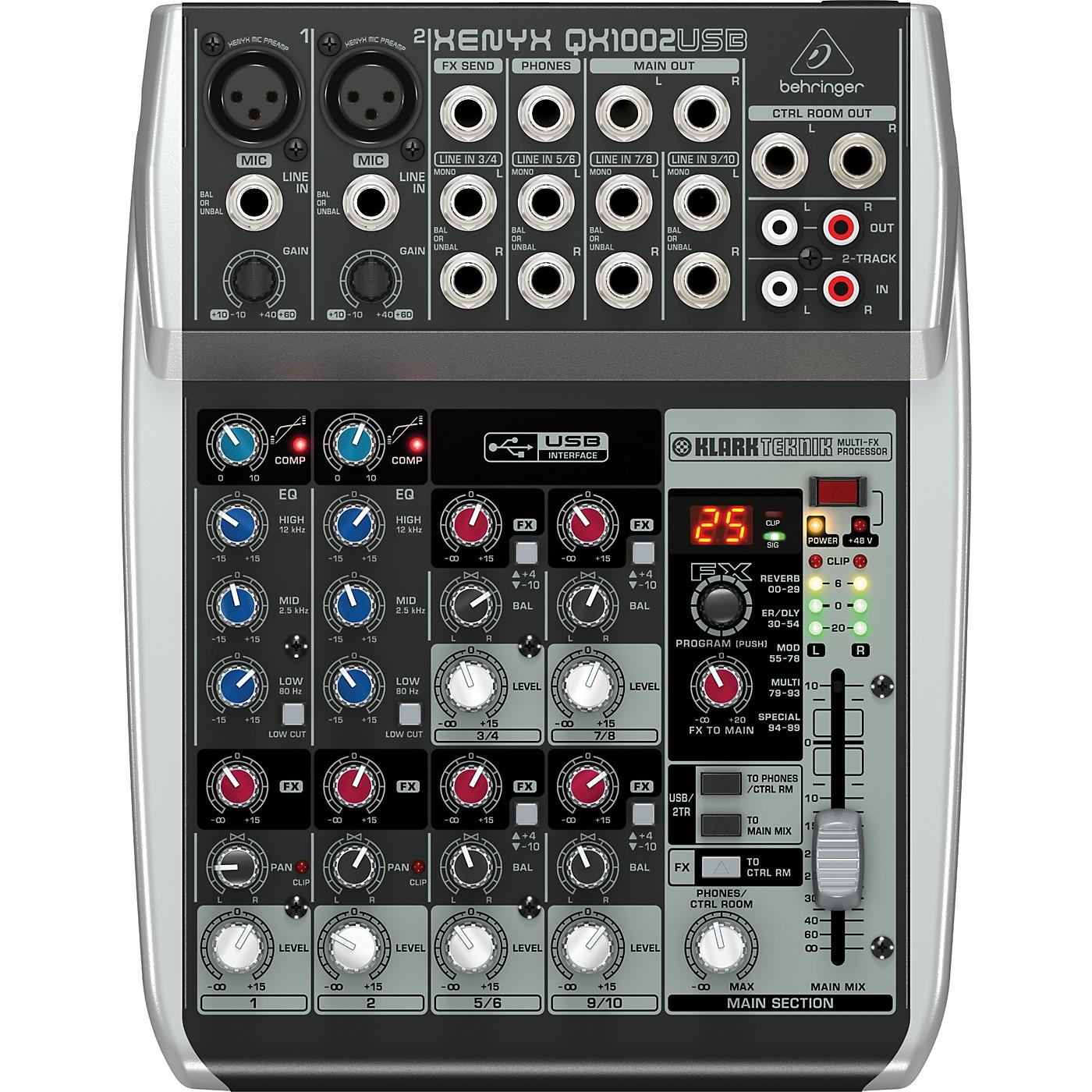 Behringer Xenyx QX1002USB Mixer thumbnail