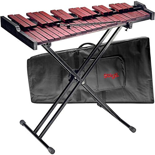 Stagg Xylo-Set 37 HG 3 Octave Xylophone with Stand and Bag thumbnail