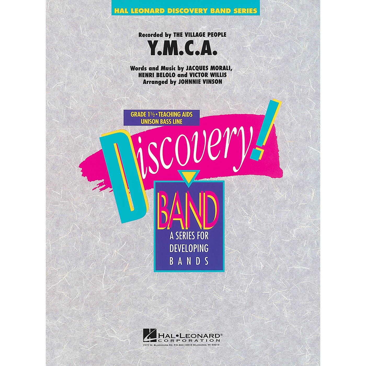 Hal Leonard Y.M.C.A. Concert Band Level 1.5 by The Village People Arranged by Johnnie Vinson thumbnail