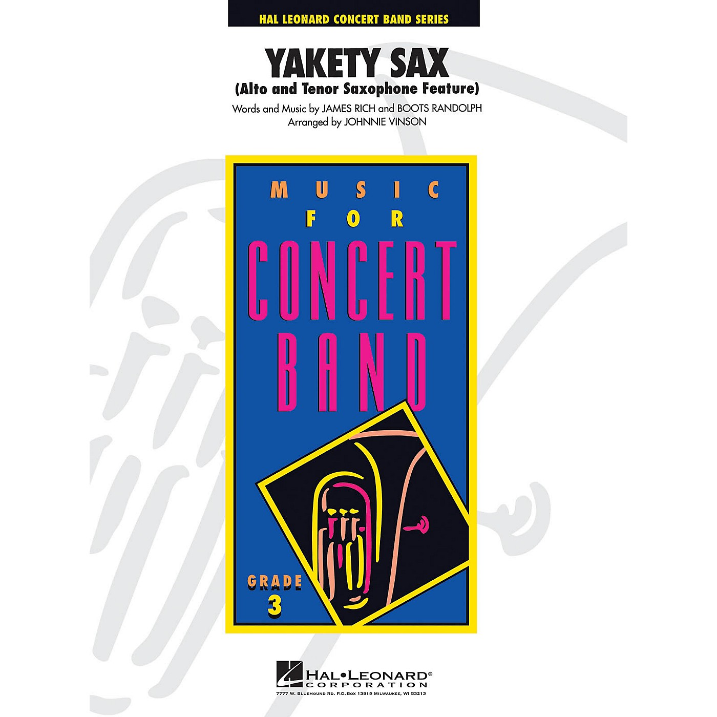 Hal Leonard Yakety Sax - Young Concert Band Level 3 arranged by Johnnie Vinson thumbnail