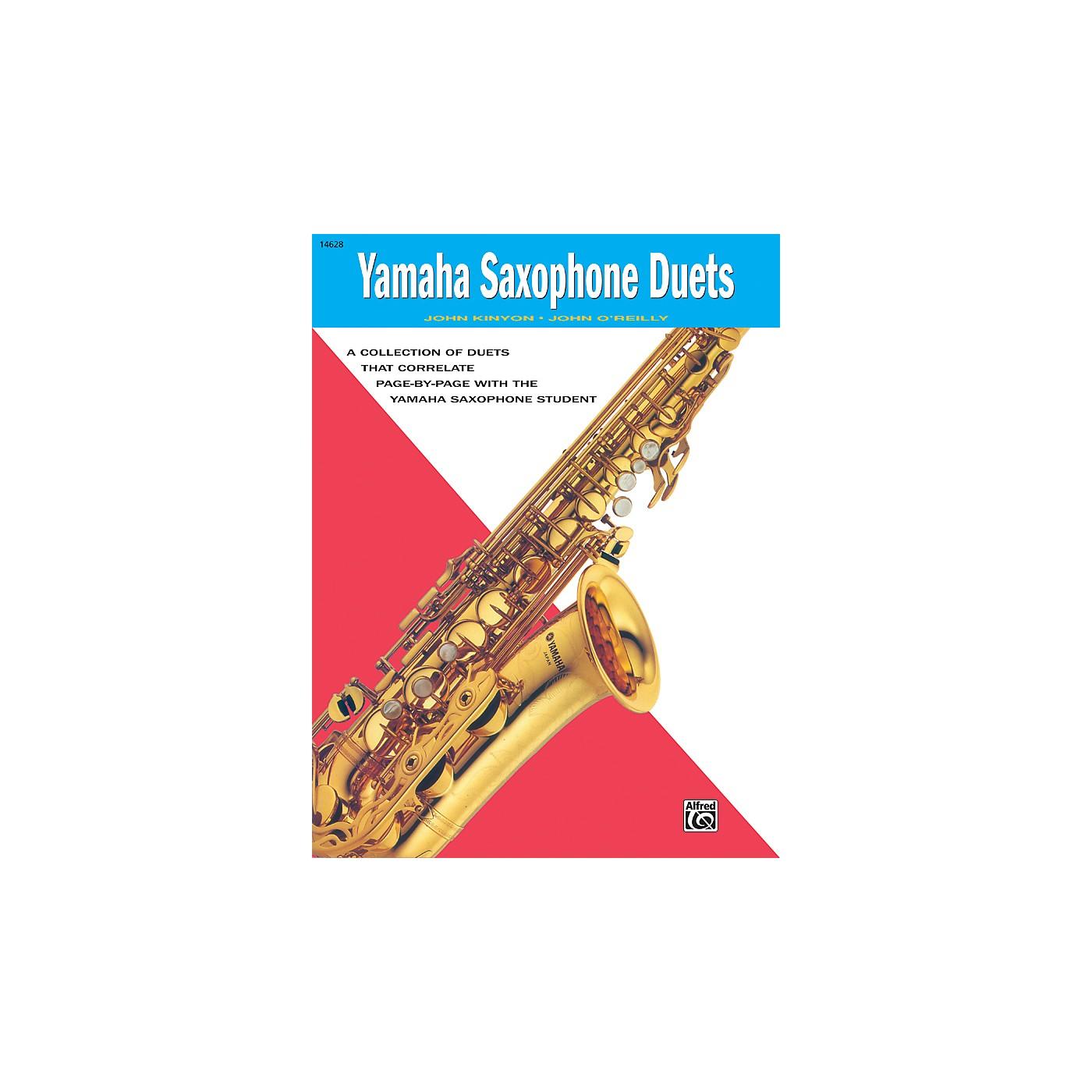 Alfred Yamaha E-Flat Alto Saxophone Duets Book thumbnail