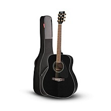 Yamaha Yamaha F335 Acoustic Guitar Black with Road Runner RR1AG  Gig Bag